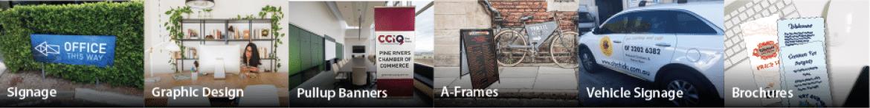 graphic design printing A frames signage